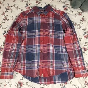 Pink and Blue American Eagle Flannel